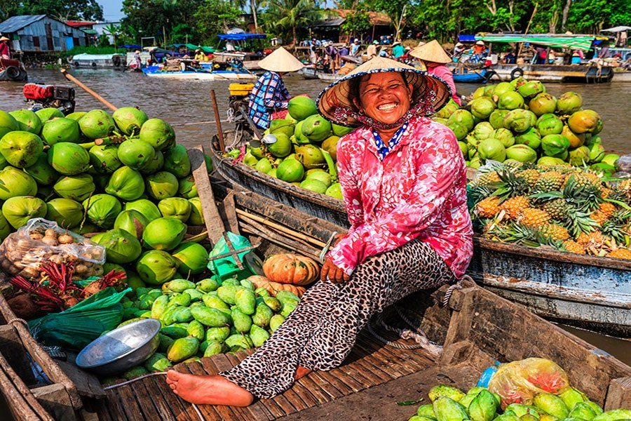 Human smile at Mekong Delta