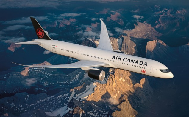 Air Canada Boeing 787-8. Click to enlarge.