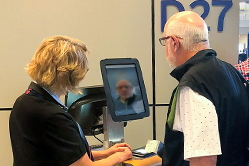 American Airlines has started using biometric boarding for customers departing from Dallas Fort Worth International Airport (DFW). American customers traveling on select international departures from DFW Terminal D can now use the one-step facial recognition program to scan and verify their identity with U.S. Customs and Border Protection (CBP) instead of scanning their boarding pass as they normally would do. Click to enlarge.