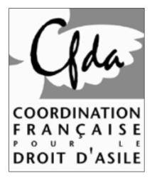 """Résultat de recherche d'images pour """"Coordination Française du droit d'asile (CFDA)"""""""