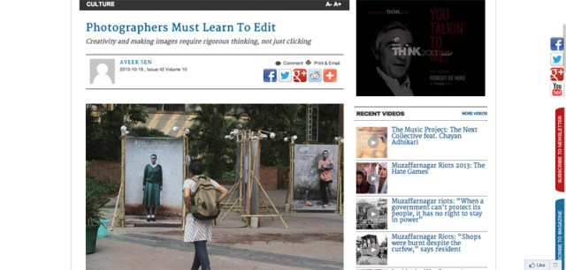 Photographers must learn to edit   Tehelka.com