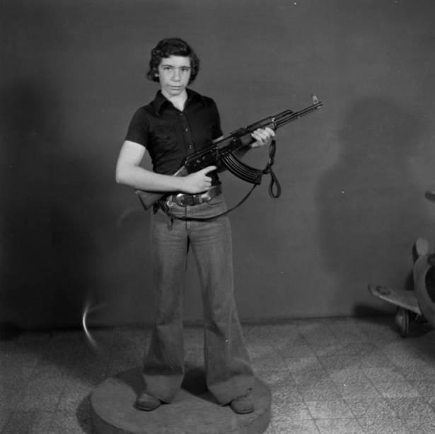 Ringo, a Palestinian resistant. Studio Shehrazade, Saida, Lebanon, 1968-72. Hashem el Madani 2007 by Akram Zaatari born 1966