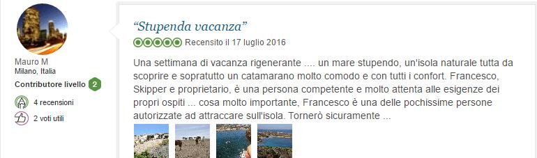 recensione asinara catamaran vacanza in barca sardegna