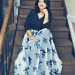 Navy Mesh Floral Sequin Maxi Dress-Valentine's day looks