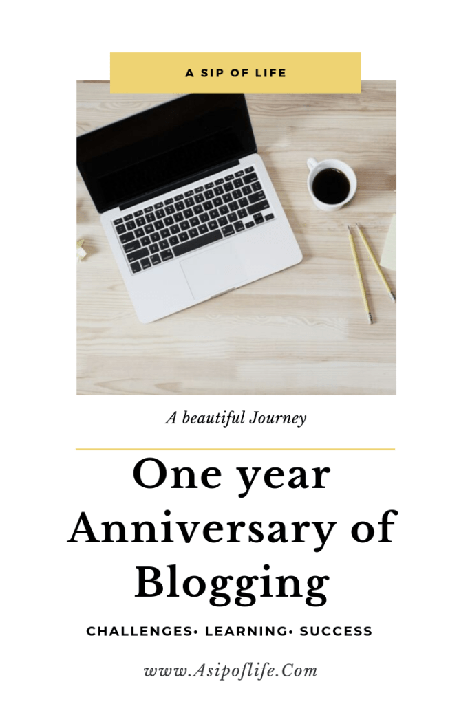 One year Anniversary of blogging