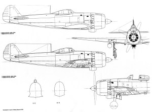Asis Artwork Nakajima Ki 84 Hayate Hei technical