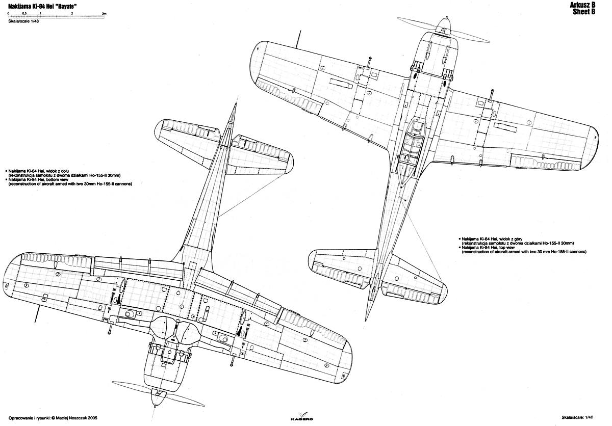 Asisbiz Artwork Nakajima Ki 84 Hayate Hei Technical