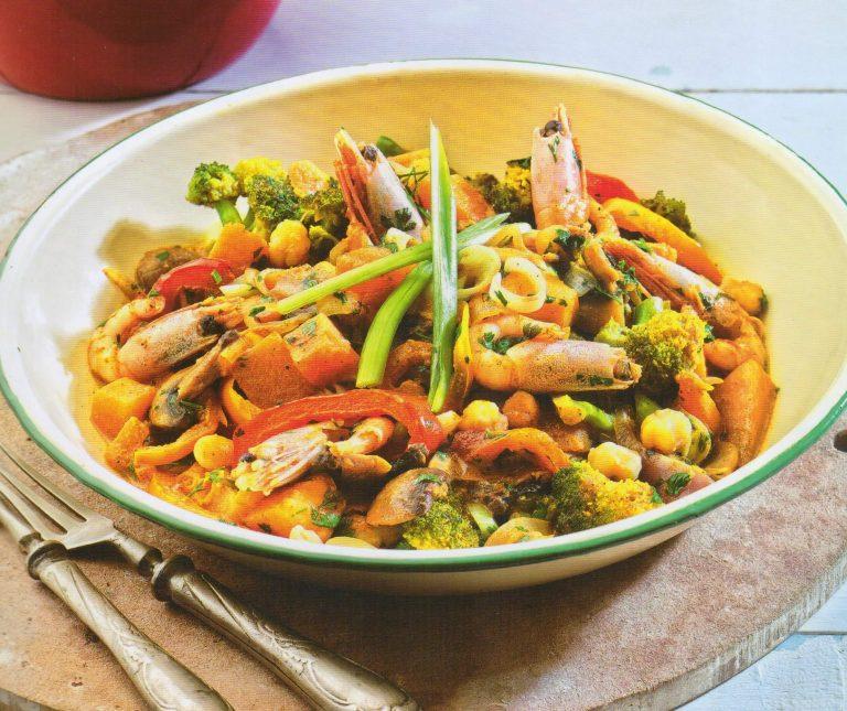 Γαρίδες με κάρυ και λαχανικά