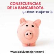 Consecuencias de la bancarrota o quiebra personal | Así Vivo Mejor Podcast