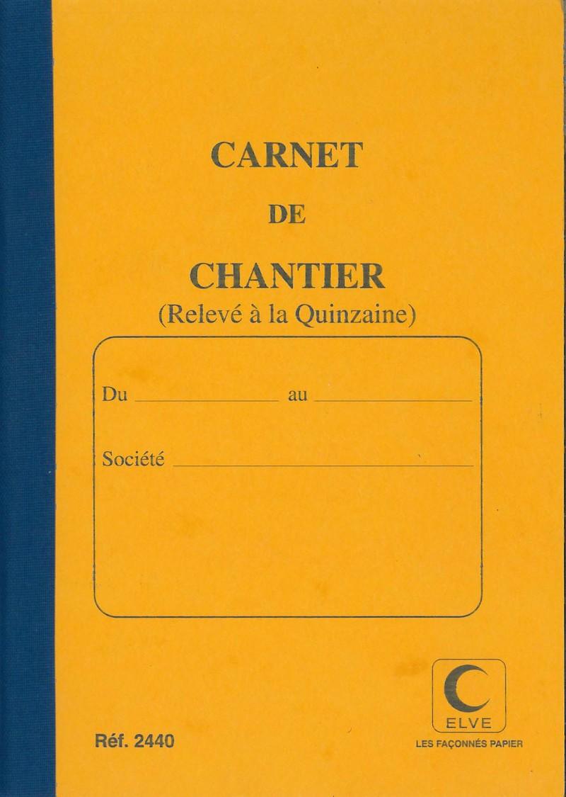 ELVE 2440 Carnet De Chantier Bimensuel 15 Jours