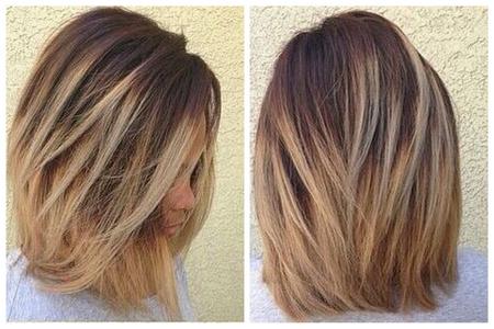 Стрижка Каре-каскад На Средние Волосы Фото