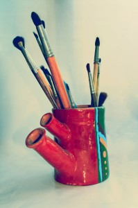 Paint Brushes in Art Mug