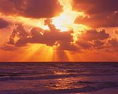 Sun Through Clouds on Ocean
