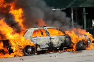 Burning Car