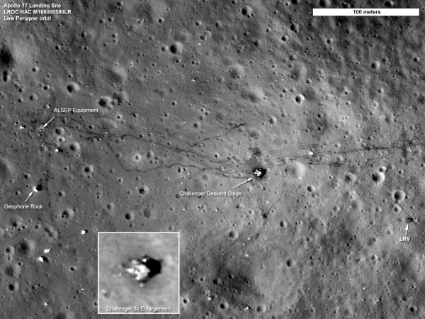 Q: Why can't we see the lunar landers from the Apollo ...