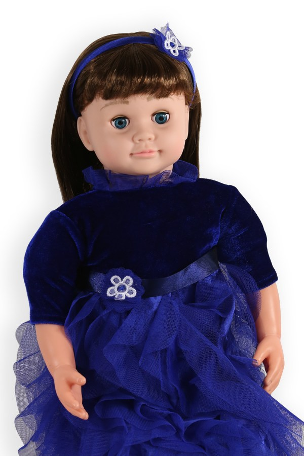 ask amy doll blue party dress