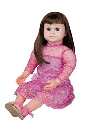 Ask-Amy-Doll-Brunette-Pink-Sparkles-Dress