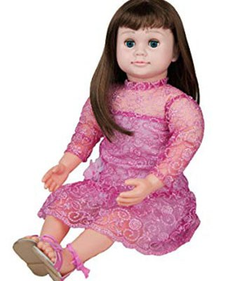 Ask-Amy-Doll-Brunette-Pink-Sparkles-Dress