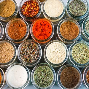 Spices, herbs and salt