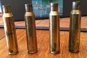 Light corrosion on brass cases