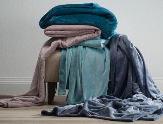 Shimmer soft blankets