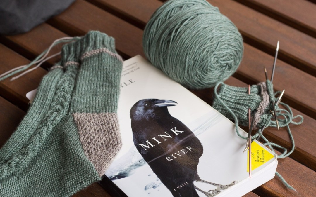 Reading with a side of knitting