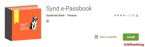 Synd e-passbook Install Application From Android