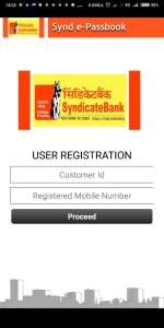 Synd e-passbook Application User Registration