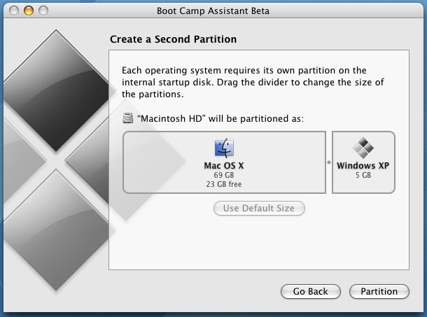 resizing partition mac windows