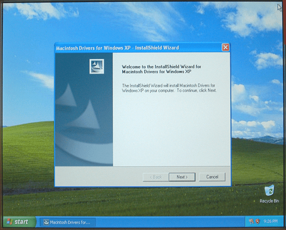 install windows xp with boot camp