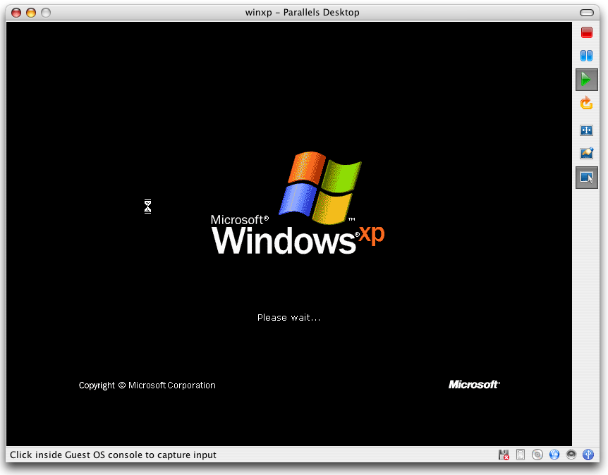 Parallels - Windows XP - Automatically Adjusted Screen Resolution