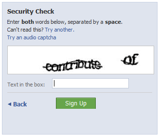 Traditional CAPTCHA