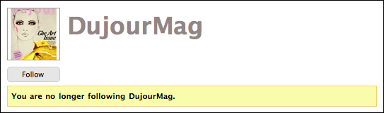 twitter dujourmag profile not following