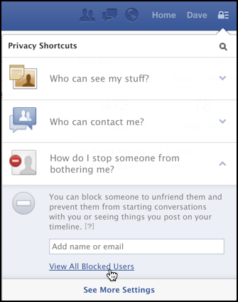blocked user list fb