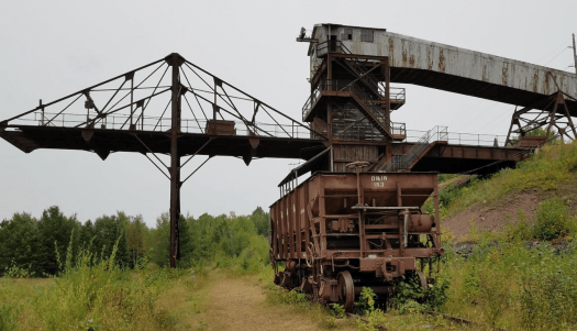 A rusted railcar at the Soudan Underground Mine in Minnesota.  No cycle is bringing this back to life.