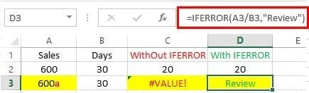 excel formula with example