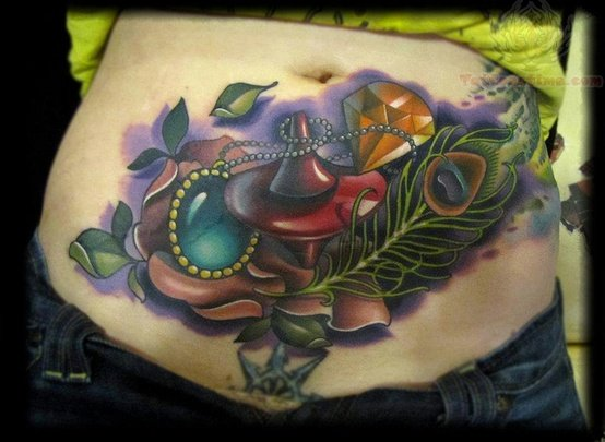 Cute Lower Stomach Tattoos