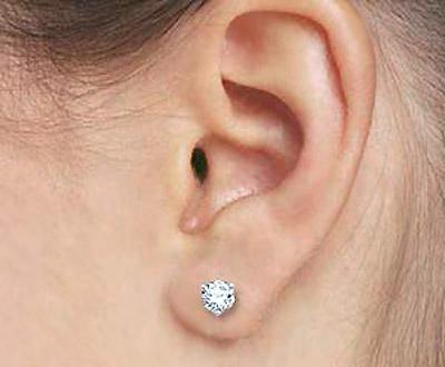 Black Gauge Ear Lobe Piercing