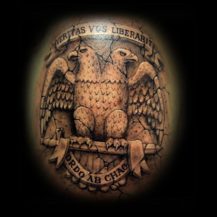 Double Headed Eagle Statue Tattoo 2019 Tattoos Ideas