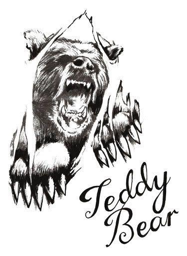 Bear Print Tattoo Outline