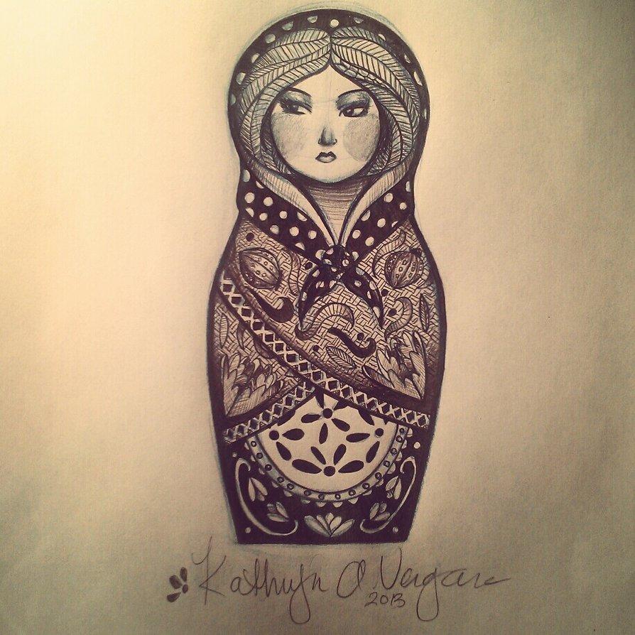 11 Cute Matryoshka Tattoo Designs