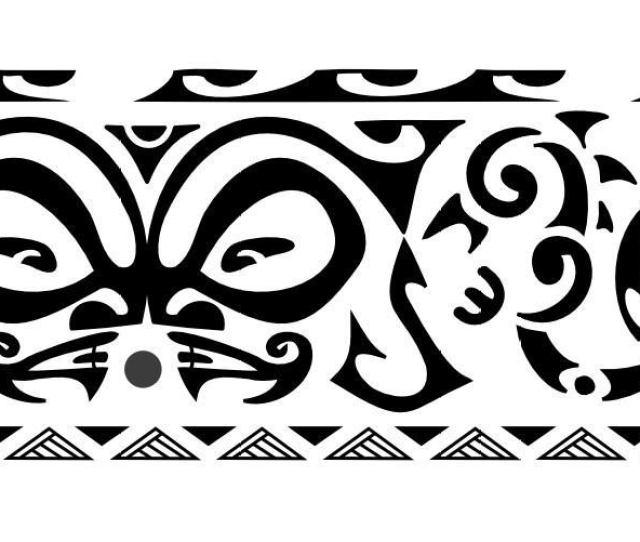 Maori Design Band Tattoo Design For Leg