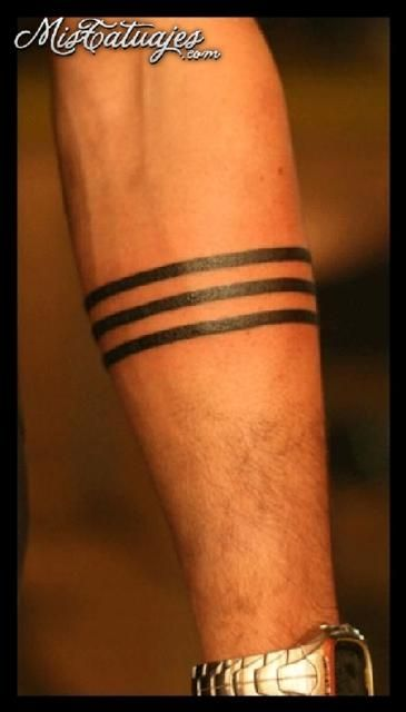 Armband Tattoo Solid Upper Black