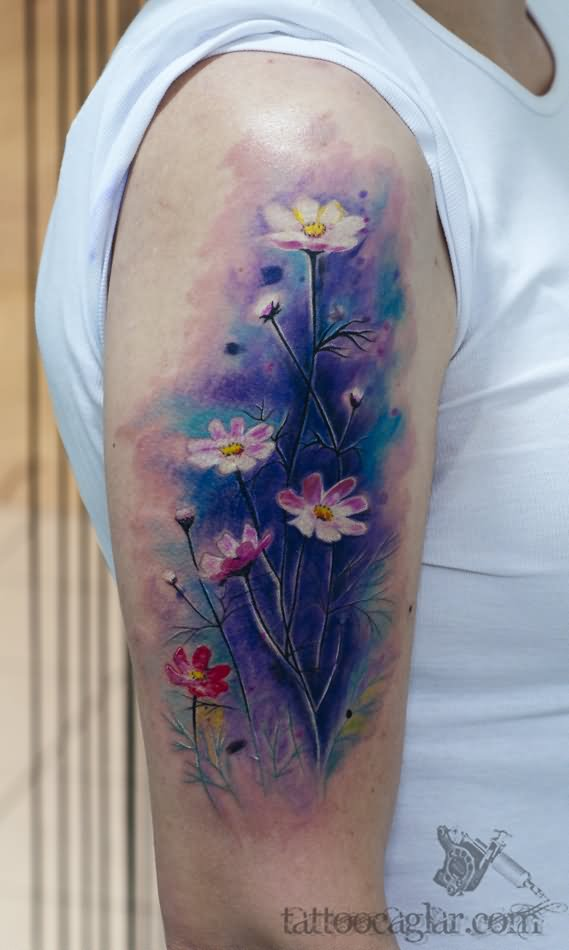 Watercolor Rose Tattoo Sleeve Mountainstyle Co