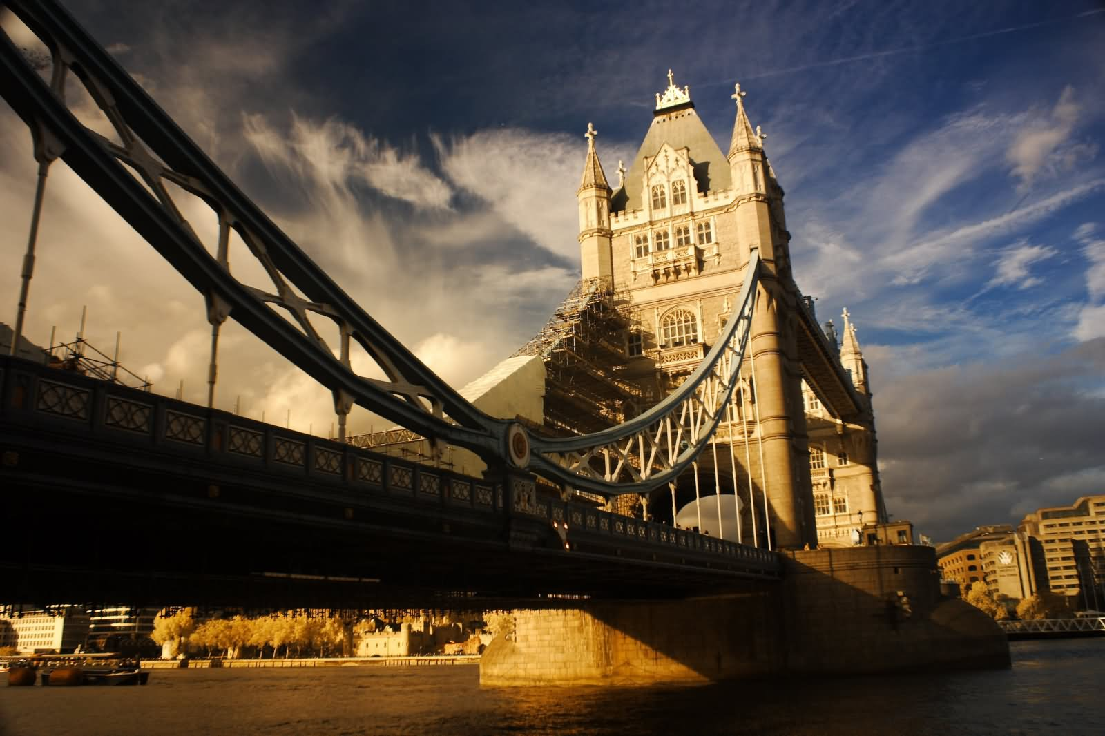 Sunset View Of Tower Bridge On River Thames London