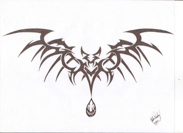 1643 Vampire Bat Tattoo Design Ideas