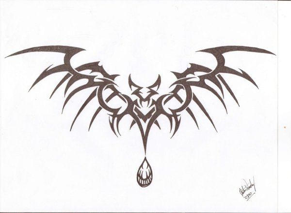 10 Tribal Vampire Tattoo Designs