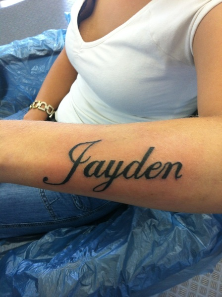 37 Forearm Name Tattoos