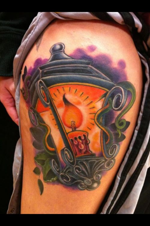 18 Amazing Oil Lamp Tattoos