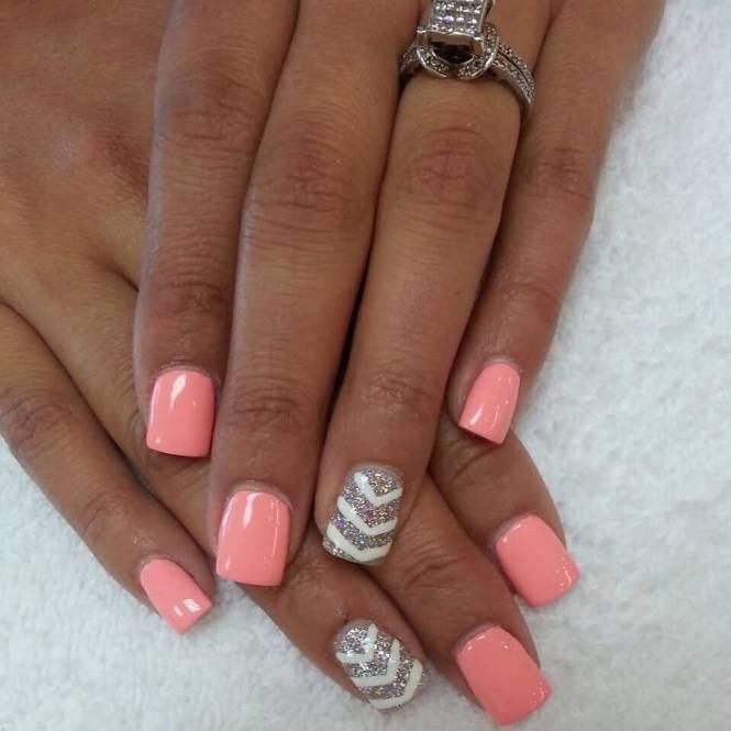Easy Beginner Peach Spring Summer Flowers Nail Art Sting Design Best Designs F Ballfo